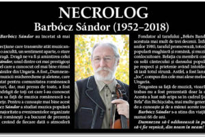 Necrolog Barbócz Sándor