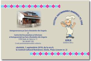 Festival Gastronomic Romanesc Pe Tara